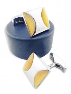 stone 50 bouton de manchette luxe en pierre semi pr cieuse il de chat jaune sur carr de. Black Bedroom Furniture Sets. Home Design Ideas