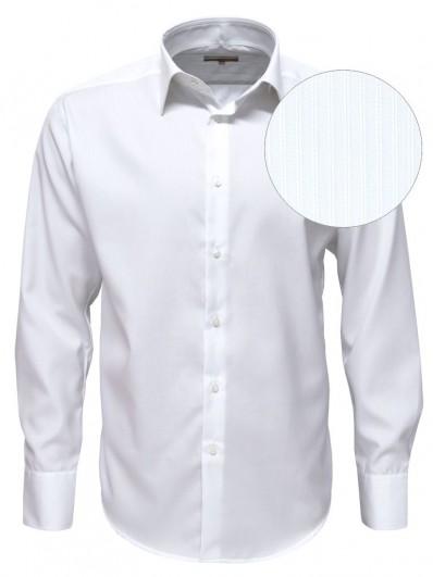 vancouver chemise blanche en coton luxe pour hommes col italien et coupe ajust e. Black Bedroom Furniture Sets. Home Design Ideas