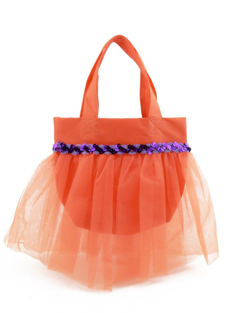 sac main enfant mariage c r monie en tulle orange. Black Bedroom Furniture Sets. Home Design Ideas