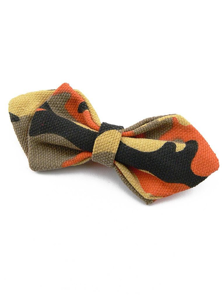 n ud papillon enfant pingle style camouflage orange et. Black Bedroom Furniture Sets. Home Design Ideas