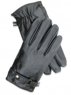 Gant Homme Noir 100% cuir d'Agneau,