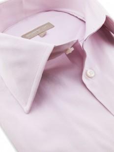 Lauren - Chemise rose pâle à boutons de manchette, en pur coton Américain tissage Oxford.