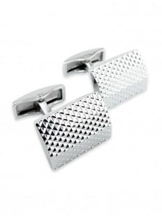 Metal 130 - Bouton de manchette en métal à pointes de diamant.