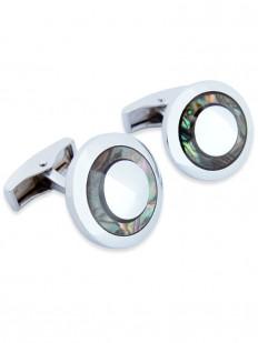 Stone 270 - Bouton de manchette à anneau de nacre d'ormeau