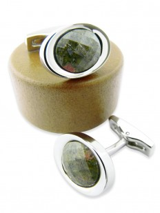 Stone 150 - Bouton de manchette en pierre naturelle