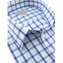 Chemise manches courtes bleue et blanche
