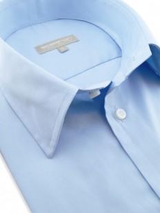Cancun - Chemisette en coton bleue unie