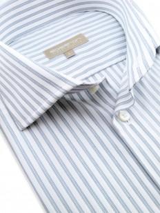Chemise à rayures gris-bleu