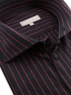 Conacry - Chemise stylisée noire et rouge