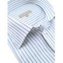 Chemise blanche à rayures grises