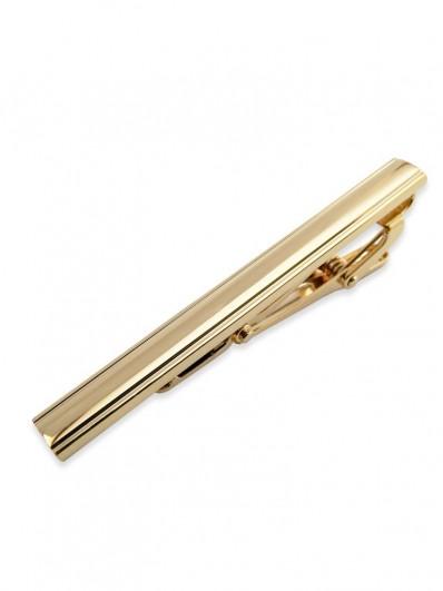Pince à cravate barette en métal doré