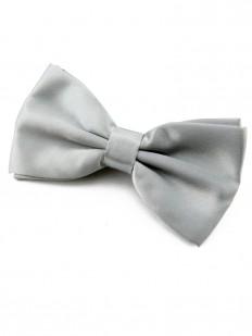 Noeud papillon gris argent