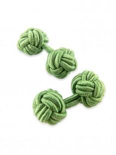Knot 270 - Bouton de manchette en passementerie vert lichen