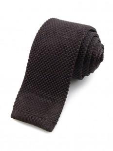 Cravate tricot marron foncé