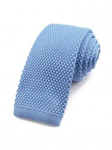Cravate tricot bleu clair