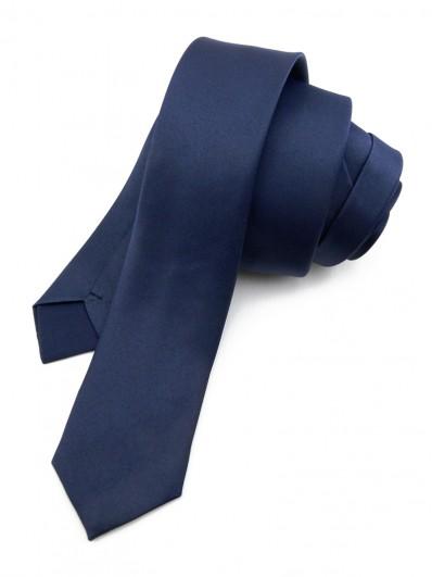 Cravate slim bleu marine