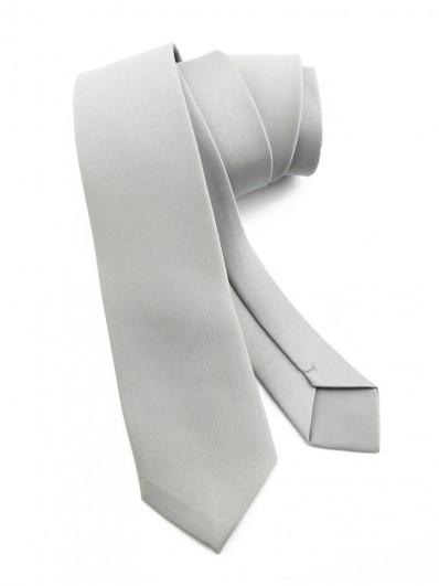 Cravate slim gris clair