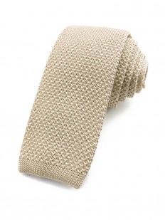 Cravate tricot ivoire