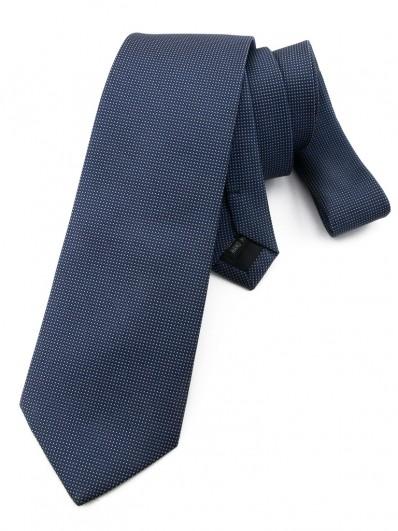 Cravate bleu marine faux uni