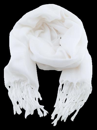 696e691c055a Écharpe Homme ou Femme en laine Pashmina et soie blanc.