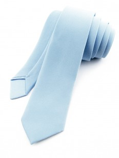 Cravate slim bleu givré