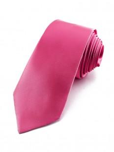 Cravate slim rose
