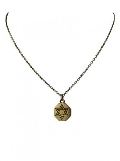 Collier Antique Etoile de David,
