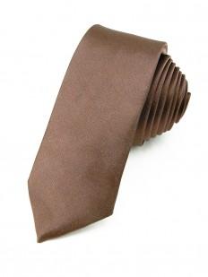 Cravate slim Marron glacé