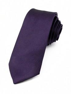 Cravate slim Violet foncé