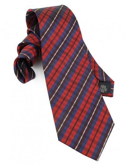 Check 110 - Cravate en tartan Écossais rouge et bleu