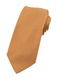 Cravate orangé en soie nattée
