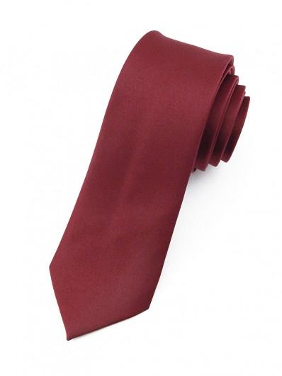 Cravate slim rouge sombre