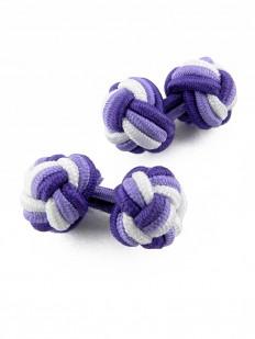 Boutons de manchette violet et blanc