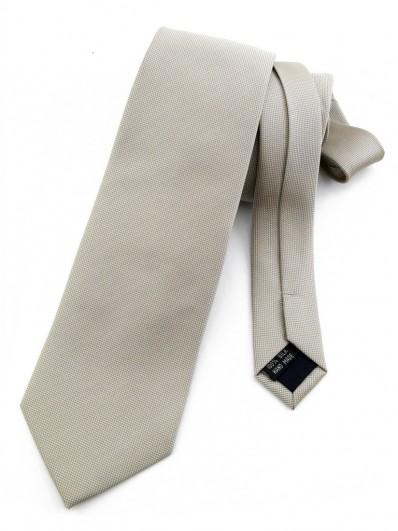 Cravate beige faux uni