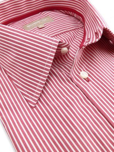 Felicia - Chemise en coton à rayures rouges et blanches