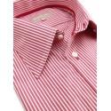 Chemise City à rayures rouges et blanches
