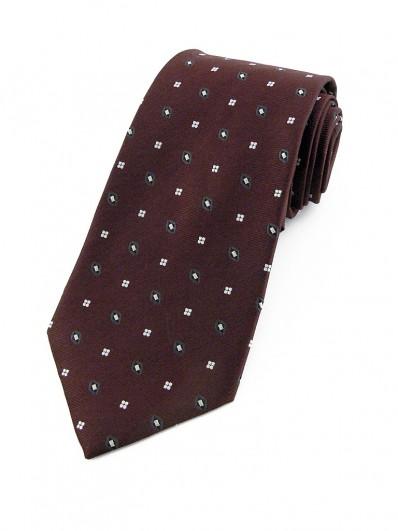 Motive 160 - Cravate en soie de couleur rouge Bourgogne