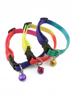 Collier en nylon multicolore