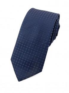 Cravate bleue marine à motifs