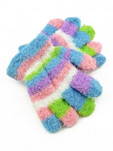 Gants multicolore à rayures