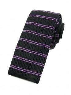 Cravate tricot pied de poule