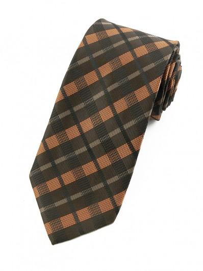 Cravate Marron et orangée