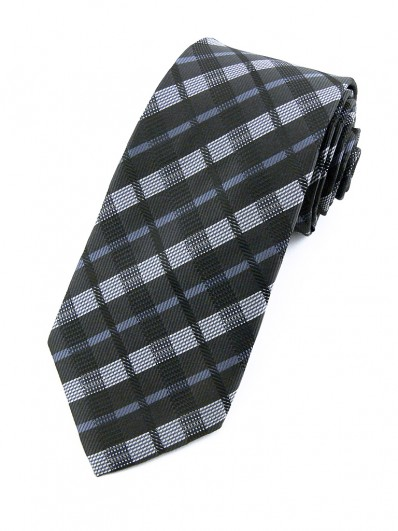 Cravate noir et grise