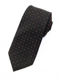 Cravate grise à petites fleurs