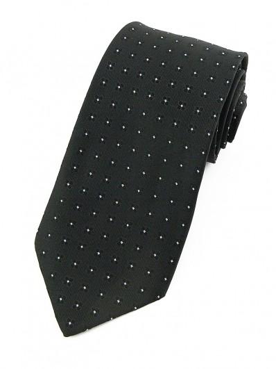 Cravate noire à petites fleurs