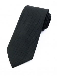 Cravate noire à motifs ton sur ton