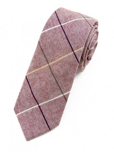 Cravate vieux rose