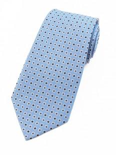 Motive 170 - Cravate bleu ciel en pure soie tissée