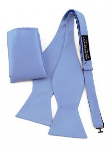 Noeud papillon bleu ciel avec pochette assortie