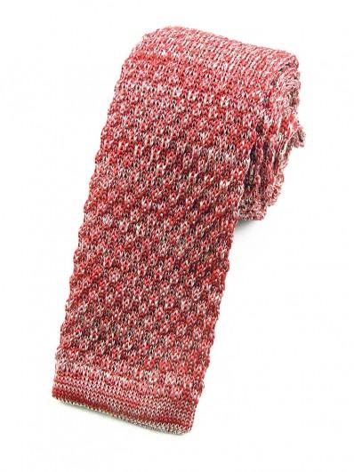 Cravate tricot rouge chiné